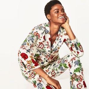 Zara Floral Print Jacket Blazer